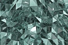 Fondo de cristal abstracto 3d rinden Superficie poligonal Imagen de archivo libre de regalías