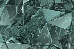 Fondo de cristal abstracto 3d rinden Superficie poligonal Fotografía de archivo libre de regalías