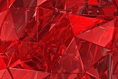 Fondo de cristal abstracto 3d rinden Superficie poligonal Imagenes de archivo