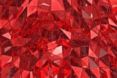 Fondo de cristal abstracto 3d rinden Superficie poligonal Foto de archivo