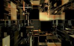 Fondo de cristal abstracto de los edificios Imagenes de archivo