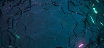 Fondo de cristal abstracto del hexágono Imagen de archivo