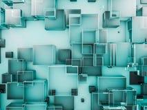 Fondo de cristal abstracto del hexágono 3d Fotografía de archivo libre de regalías