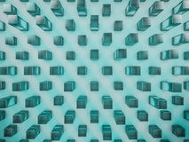 Fondo de cristal abstracto del hexágono 3d Imagen de archivo libre de regalías