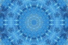 Fondo de cristal azul con el modelo abstracto de la espuma Fotos de archivo libres de regalías