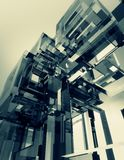 Fondo de cristal del extracto del cubo Fotografía de archivo libre de regalías