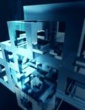 Fondo de cristal del extracto del cubo Fotografía de archivo