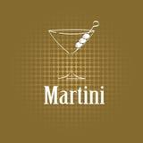 Fondo de cristal del menú del diseño de Martini Fotografía de archivo libre de regalías