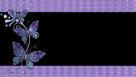 Fondo de cristal púrpura de las mariposas Foto de archivo libre de regalías