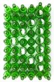 Fondo de cristal vacío de la cerveza bottles.abstract Fotos de archivo