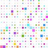 Fondo de cuadrados multicolores en blanco stock de ilustración