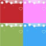Fondo de cuatro tarjetas del día de San Valentín del St Foto de archivo