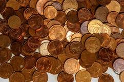 Fondo de cuentas euro Foco bajo Fotos de archivo libres de regalías