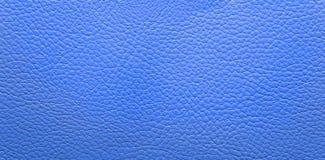 Fondo de cuero azul Fotos de archivo