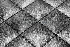Fondo de cuero con la costura Fotografía de archivo libre de regalías