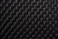 Fondo de cuero negro Imágenes de archivo libres de regalías