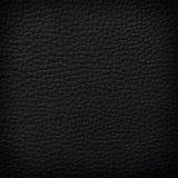 Fondo de cuero negro imagenes de archivo