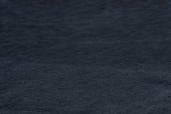 Fondo de cuero negro de la textura Foto de archivo