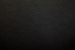 Fondo de cuero negro de lujo de la textura Imágenes de archivo libres de regalías