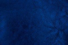Fondo de cuero texturizado azul marino Textura de cuero abstracta fotos de archivo libres de regalías