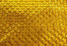 Fondo de cuero trenzado de bronce de la textura del oro Fotografía de archivo libre de regalías