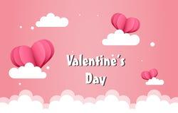Fondo de día de San Valentín de los globos stock de ilustración