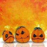 fondo de 3D Halloween con las calabazas Foto de archivo