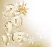 Fondo de 2016 del Año Nuevo decoraciones de la Navidad Imagenes de archivo