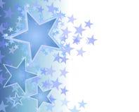 Fondo de descoloramiento azul de las estrellas Imagenes de archivo