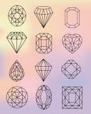 Fondo de Diamond Shapes On Pastel Colors Imagenes de archivo