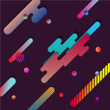 Fondo de Dinamic con formas de papel geométricas multicoloras horizontales Ejemplo del vector del diseño moderno imagen de archivo libre de regalías
