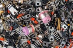 Fondo de diversos transistores imagen de archivo libre de regalías