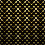 Fondo de Dot Metallic Faux Foil Black de la polca de las mariposas del oro Imagenes de archivo