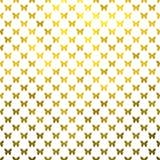 Fondo de Dot Metallic Faux Foil White de la polca de las mariposas del oro Fotografía de archivo
