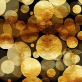 Fondo de Dots Faux Foil Metallic Black del oro Fotos de archivo libres de regalías
