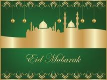 Fondo de Eid Mubarak stock de ilustración