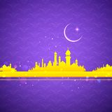 Fondo de Eid Mubarak (Eid feliz) stock de ilustración