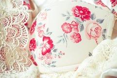 Fondo de encaje femenino de las ropas interiores Foto de archivo libre de regalías