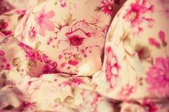 Fondo de encaje femenino de las ropas interiores Imágenes de archivo libres de regalías