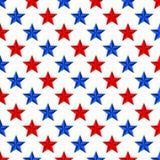 Fondo de estrellas azules y rojas alternativamente de lado a lado y debajo de uno a diagonalmente en un fondo blanco libre illustration