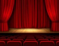 Fondo de etapa del teatro Fotos de archivo libres de regalías