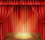 Fondo de etapa del teatro stock de ilustración