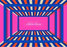 Fondo de exhibición de la moda Perspectiva colorida del sitio para el diseño fotografía de archivo