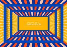 Fondo de exhibición de la moda Perspectiva colorida del sitio para el diseño imagenes de archivo