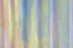 Fondo de Exture de la pared acanalada amarilla vieja Foto de archivo