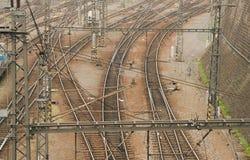 Fondo de ferrocarriles Fotografía de archivo libre de regalías