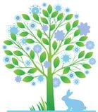 Fondo de Frolal con los conejos. stock de ilustración