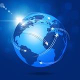 Fondo de Global Aviation Imágenes de archivo libres de regalías