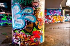 Fondo de Graffitti Wall Imagenes de archivo