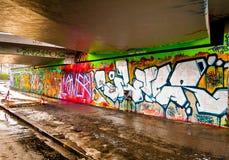 Fondo de Graffitti Wall Fotos de archivo